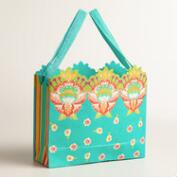 Large Turquoise Bettina Handmade Gift Bag, Set of 2