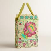 Large Pink Flower Handmade Gift Bag