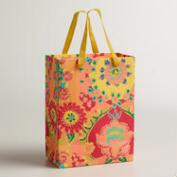 Small Floral Print Bettina Handmade Gift Bag, Set of 2