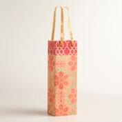 Red Nomad Tiles Handmade Wine Bag