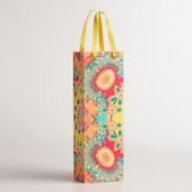 Floral Bettina Handmade Wine Bag