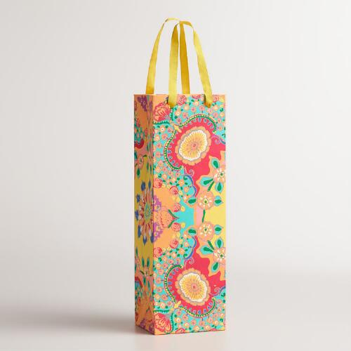 Floral Bettina Handmade Wine Gift Bags, Set of 2