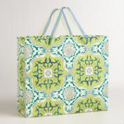 Extra-Large Green Sufi Tiles Handmade Gift Bag