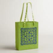 Small Green Laser-Cut Handmade Gift Bag, Set of 2