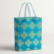Small Gold Lattice Handmade Gift Bag, Set of 2