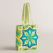 Mini Turquoise Medallion Handmade Gift Bags, Set of 2
