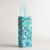 Blue Casablanca Handmade Wine Bag