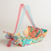 Small Floral Bettina Handmade Paper Gift Basket