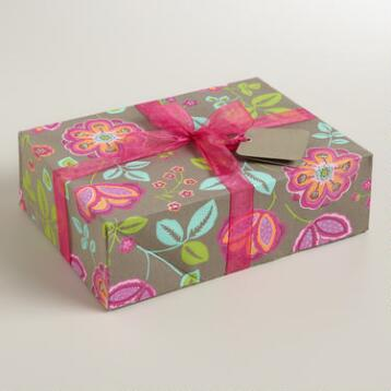 Gray Louisa Handmade Fabric Jewelry Box