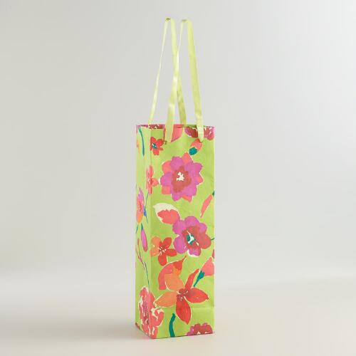 Parisian Bouquet Handmade Wine Bags, Set of 2