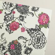 Floral Laurent Kraft Gift Wrap