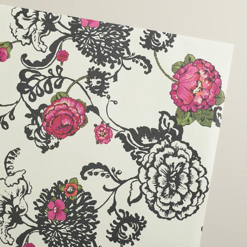 Floral Laurent Kraft Wrapping Paper Roll