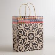 Large Black and White Tile Kraft Gift Bag