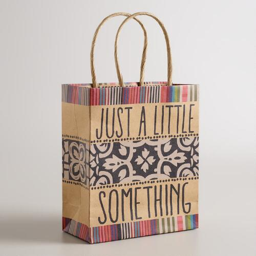 Small Little Something Kraft Gift Bags, Set of 6