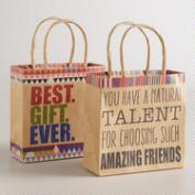 Mini Best Gift Ever Kraft Gift Bags, 2-Pack