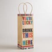 You're Lucky Wine Gift Bag, Set of 2