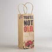 You're Vintage Kraft Wine Gift Bags, Set of 2