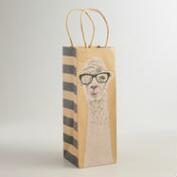 Llama Kraft Wine Bag, Set of 2