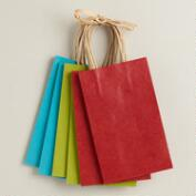 Small Kraft Paper Gift Bags, 6-Pack