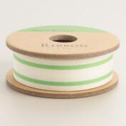 Neon Green Ticking Stripe Ribbon
