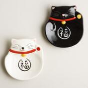 Happy Cat Ceramic Tea Rests, Set of 2