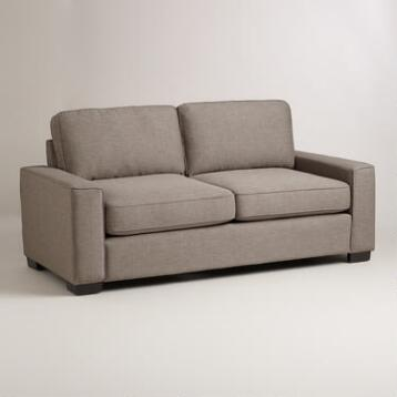 Pewter Gray Aylin Square Arm Sofa