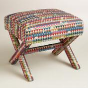 Holland Park Brendan Upholstered X-Base Stool
