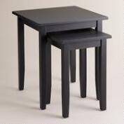 Antique Black Chloe Nesting Tables, Set of 2