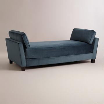 Midnight Blue Velvet Lexlyn Daybed