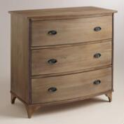 Wood Jantar 3-Drawer Dresser