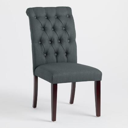 Charcoal Gray Tufted Harper Dining Chairs, Set of 2