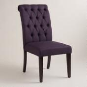 Aubergine Tufted Harper Dining Chairs, Set of 2