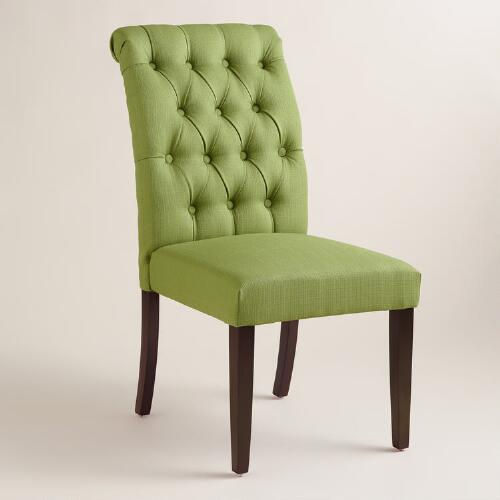 Fern Green Tufted Harper Dining Chairs, Set of 2