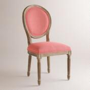 Coral Linen Paige Round Back Dining Chairs, Set of 2
