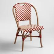 Red and Cream Clarabella Cafe Chairs, Set of 2