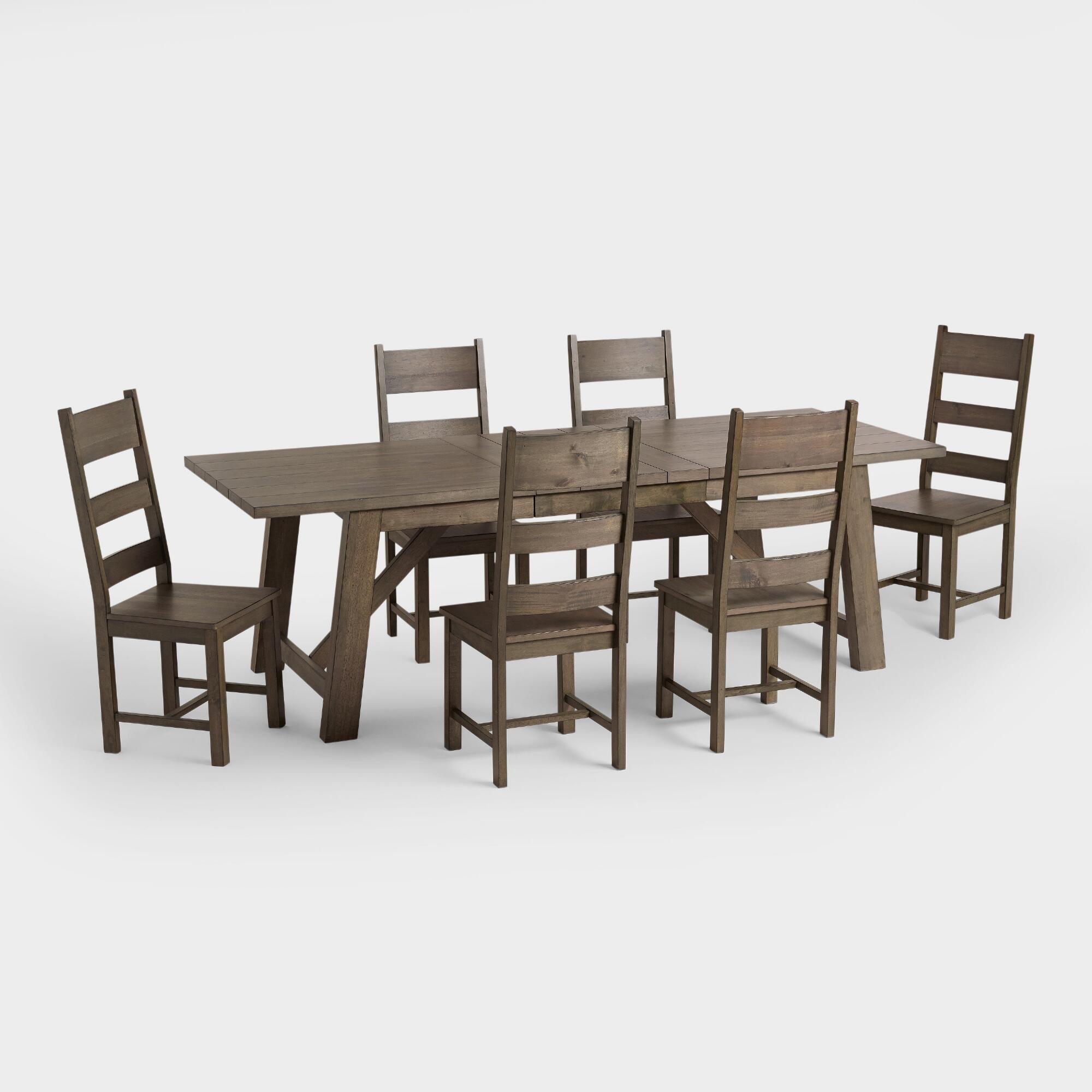 Farmhouse dining furniture collection world market for Outdoor furniture covers world market