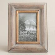 Gray and Gold Wood Alexa Frame