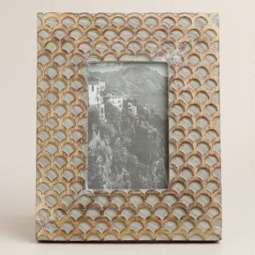 Gray Fish Scale Wood Frame
