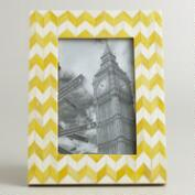 Yellow Chevron Bone London Frame