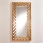 Natural Geometric Wood Malika Mirror
