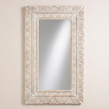 White Feather Paige Mirror