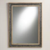 Wood and Embossed Metal Ella Mirror