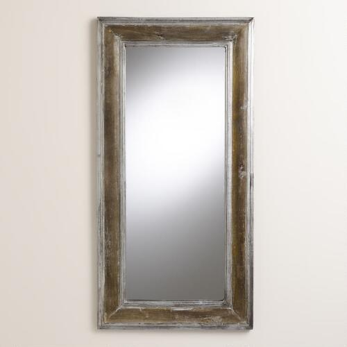 Silver Wood Declan Mirror