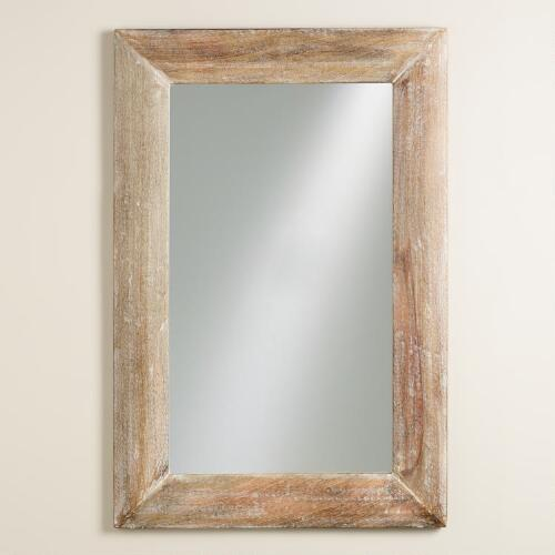 Natural Wood Convex Liam Mirror