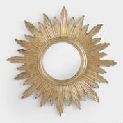 Large Antique Gold Leila Sunburst Mirror