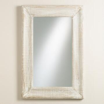 Whitewashed Liam Concave Mirror