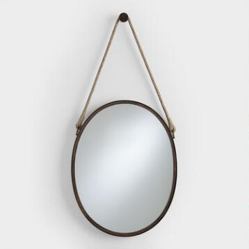 Vertical Oval Fynn Captain's Mirror