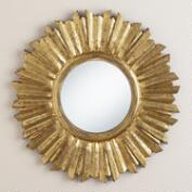Small Antique Gold Leila Sunburst Mirror