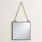 Antique Zinc Square Metal Reese Mirror