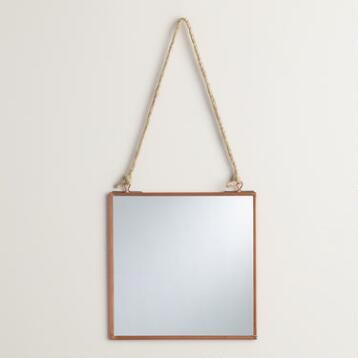 Copper Square Metal Reese Mirror